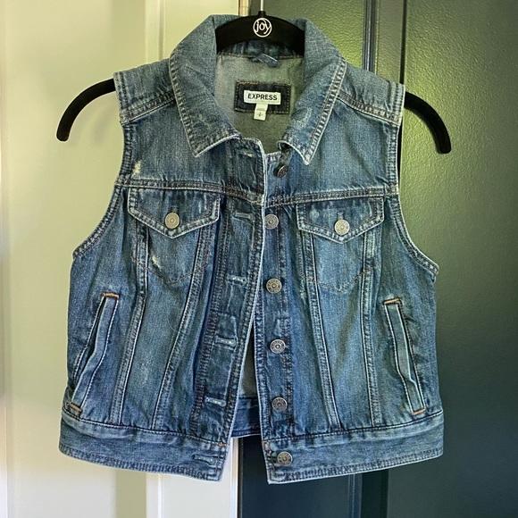 Express Jackets & Blazers - Express Denim Vest S